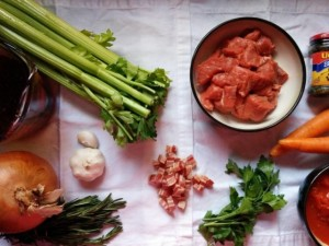 Ragu ingredients